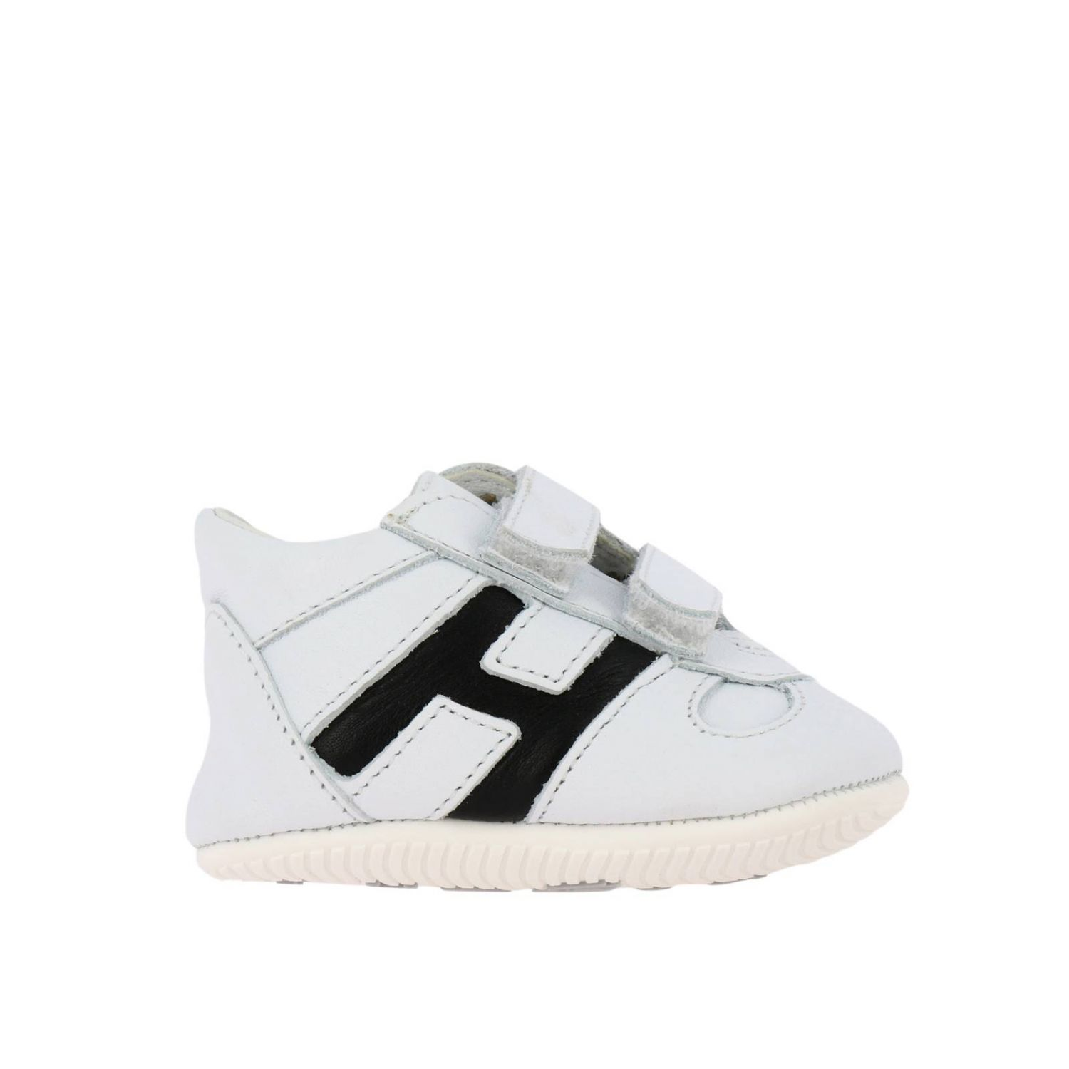 Olympia Hogan sneakers in leather with Velcro straps white 1