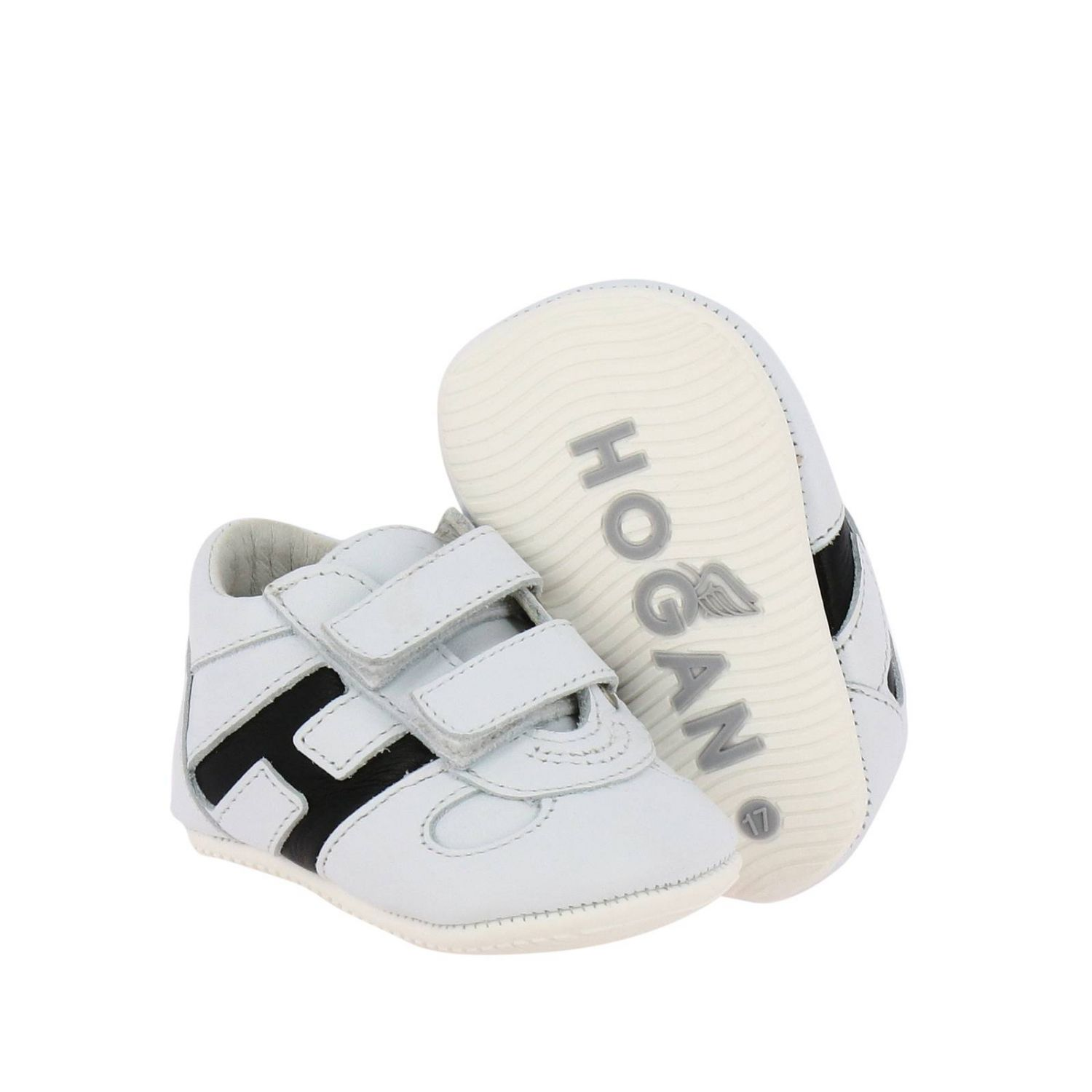 Olympia Hogan sneakers in leather with Velcro straps white 2