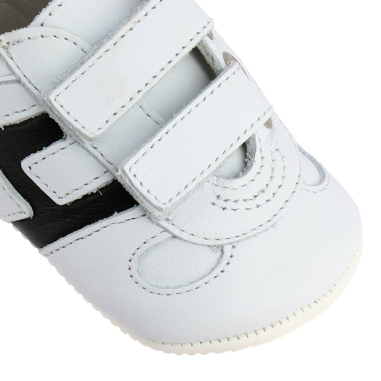 Olympia Hogan sneakers in leather with Velcro straps white 3