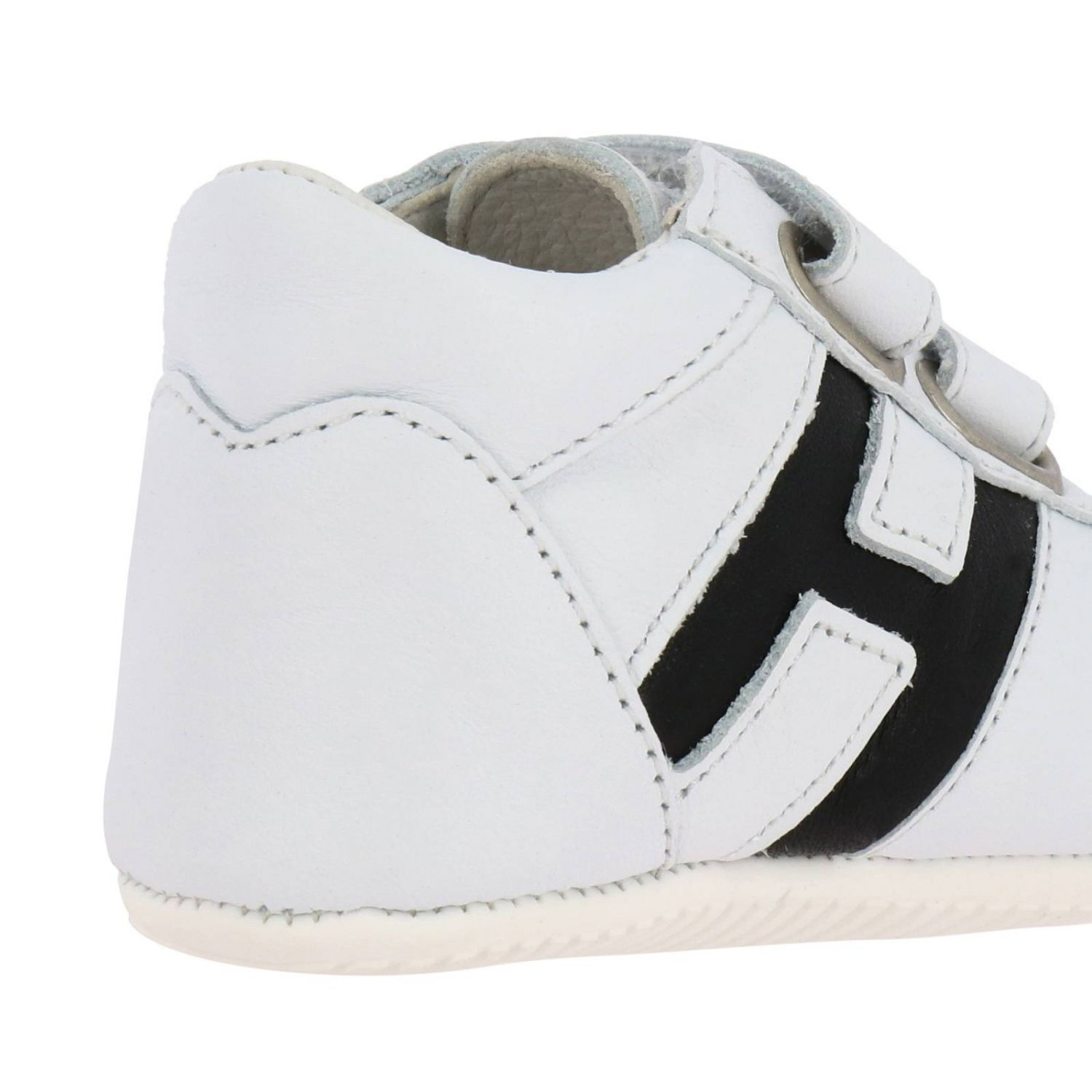 Olympia Hogan sneakers in leather with Velcro straps white 4