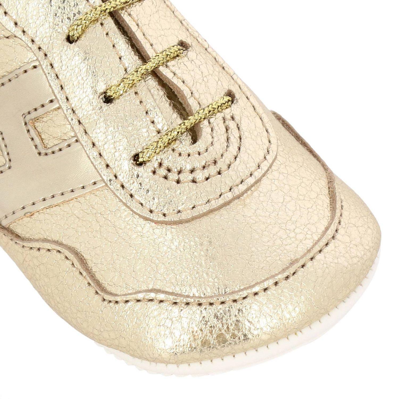 Sneakers Olympia Hogan in pelle laminata oro 3