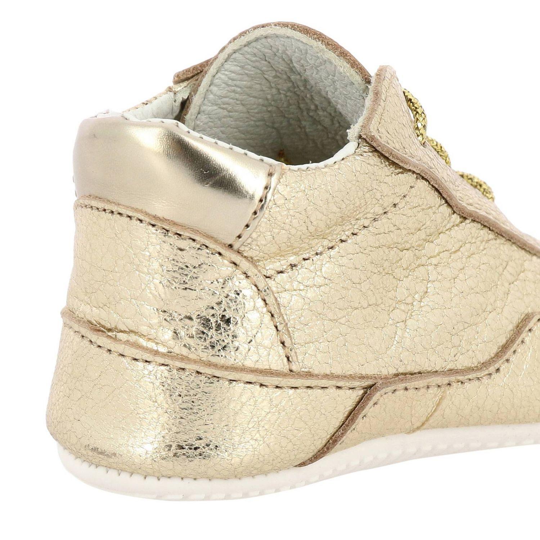 Sneakers Olympia Hogan in pelle laminata oro 4