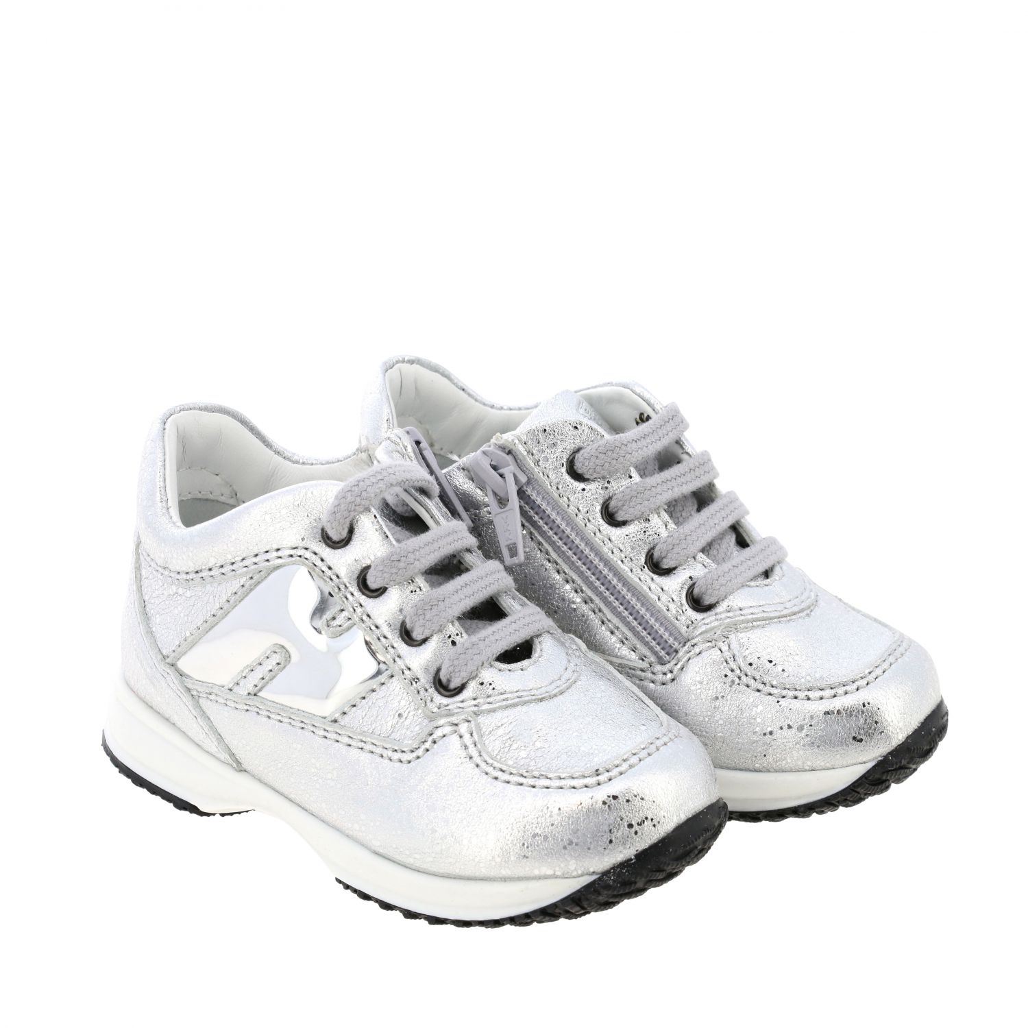 Shoes Hogan Baby: Shoes kids Hogan Baby silver 2