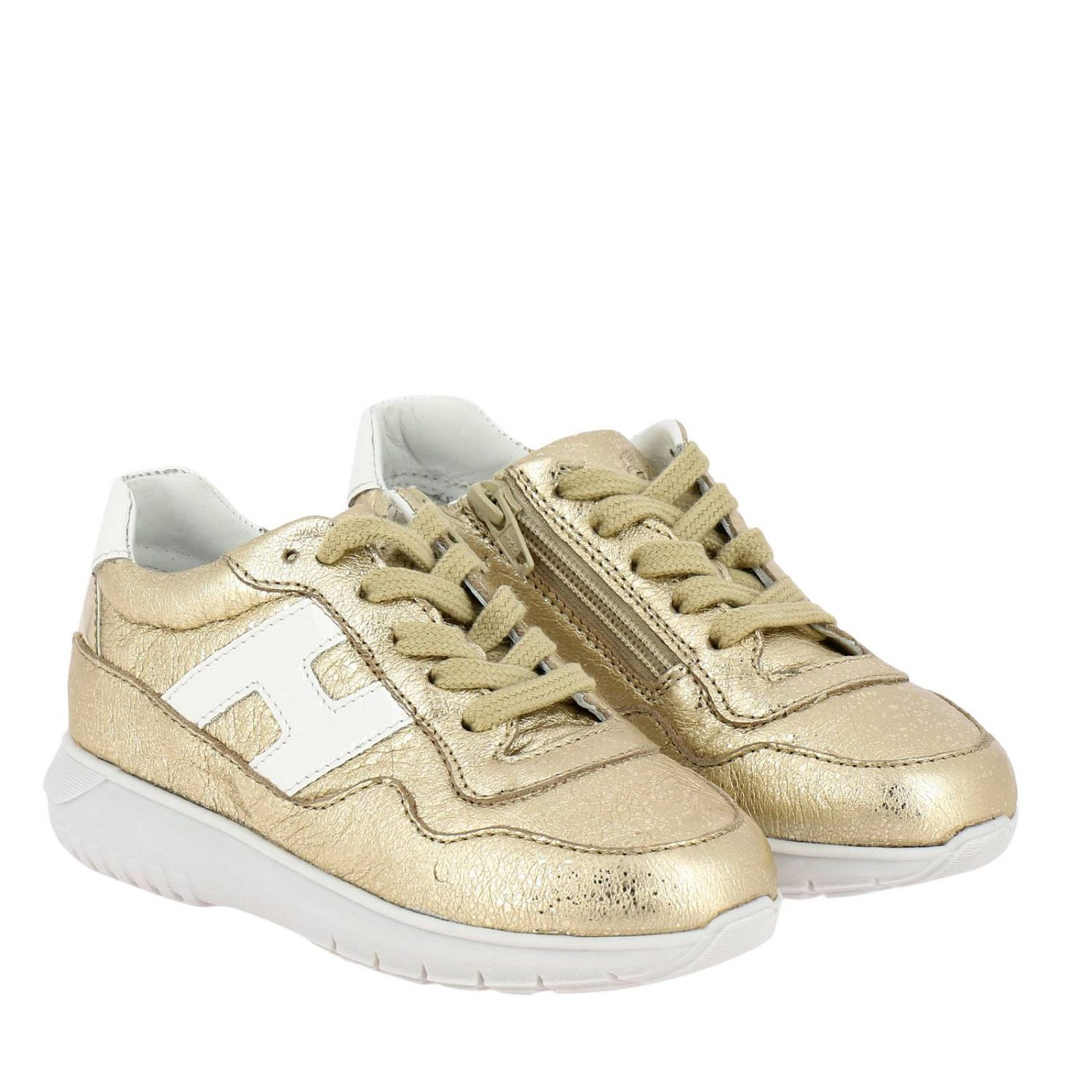 Shoes kids Hogan Baby gold 2