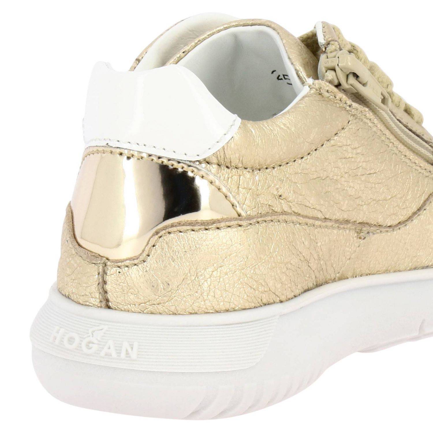 Shoes kids Hogan Baby gold 4