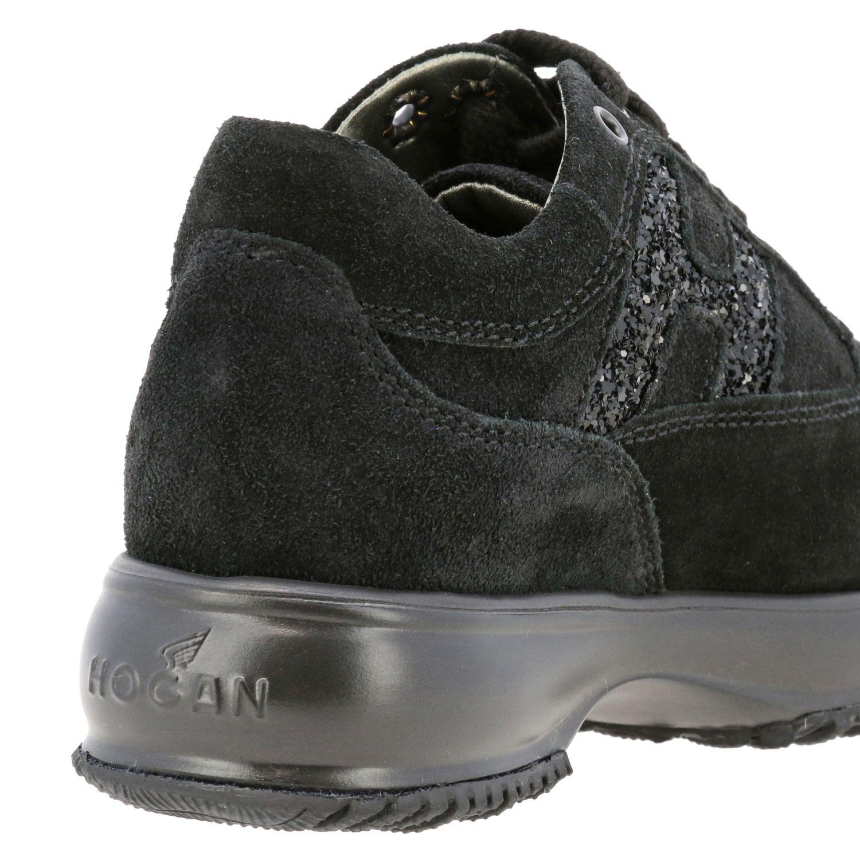 Hogan Interactive Sneakers aus Wildleder mit Glitzer H Logo schwarz 5