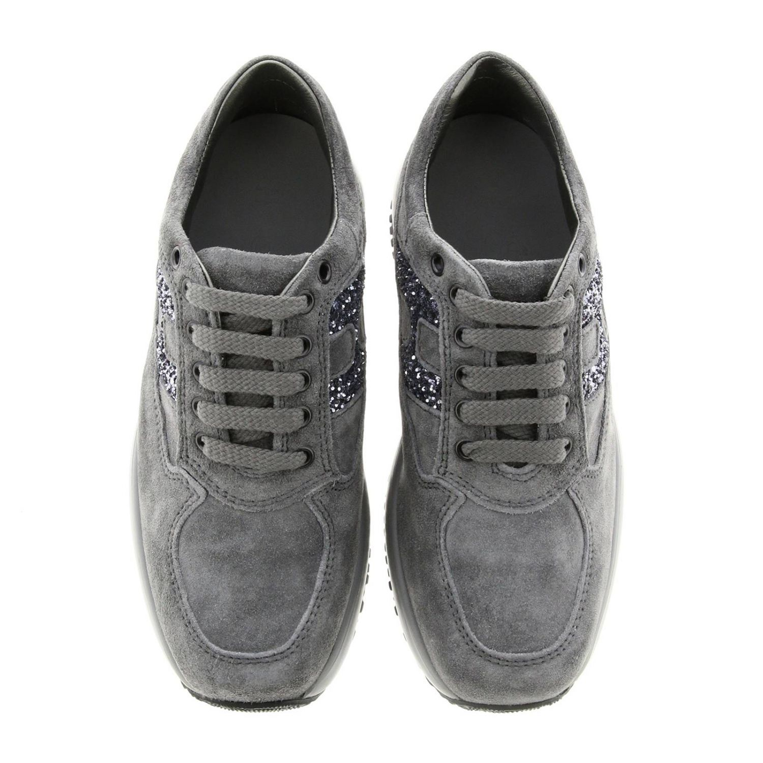Hogan Interactive suede sneakers with H glitter lead 3