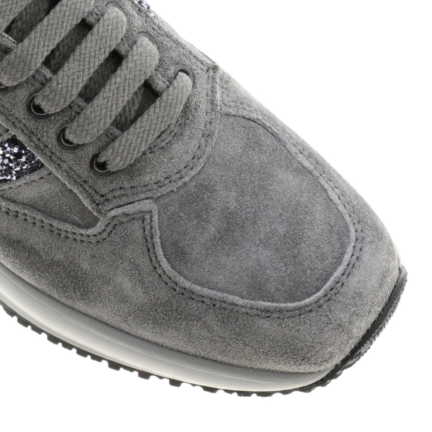 Hogan Interactive suede sneakers with H glitter lead 4