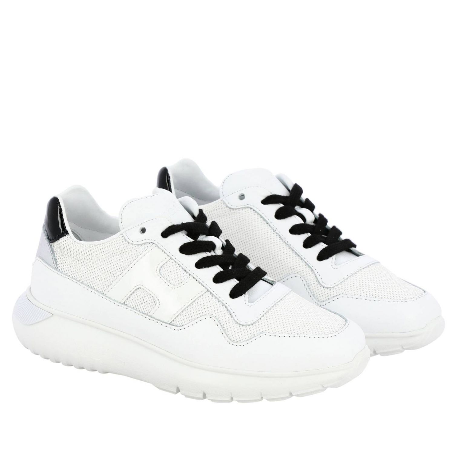 Cube Hogan sneakers in leather and sequins white 2