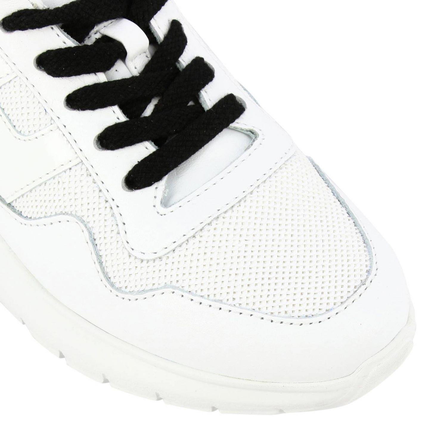 Cube Hogan sneakers in leather and sequins white 3