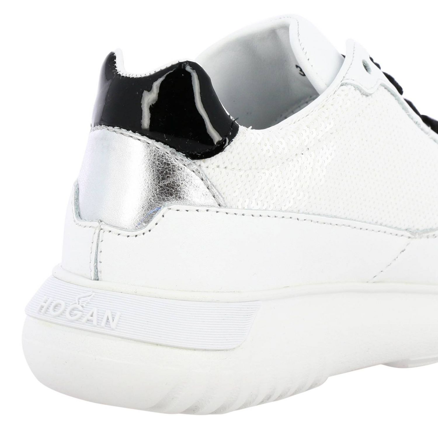 Cube Hogan sneakers in leather and sequins white 4