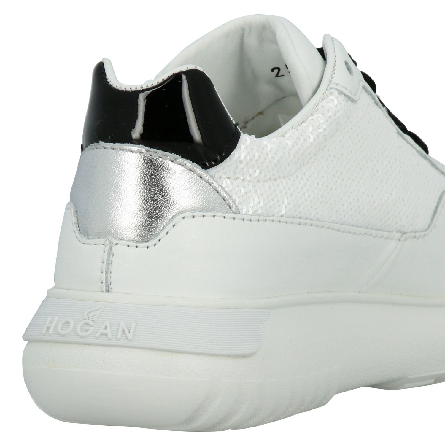 Cube Hogan sneakers in leather and sequins white 5