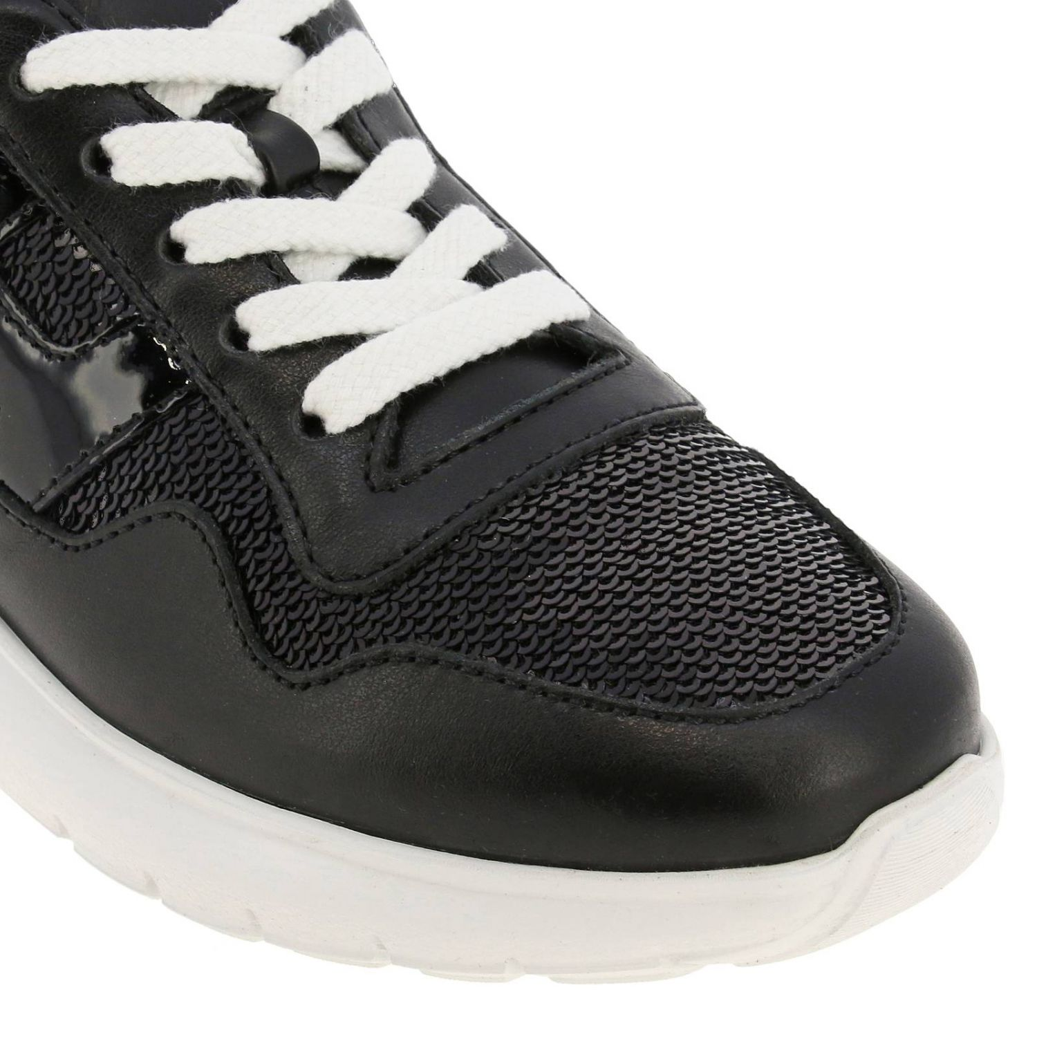 Cube Hogan sneakers in leather and sequins black 3
