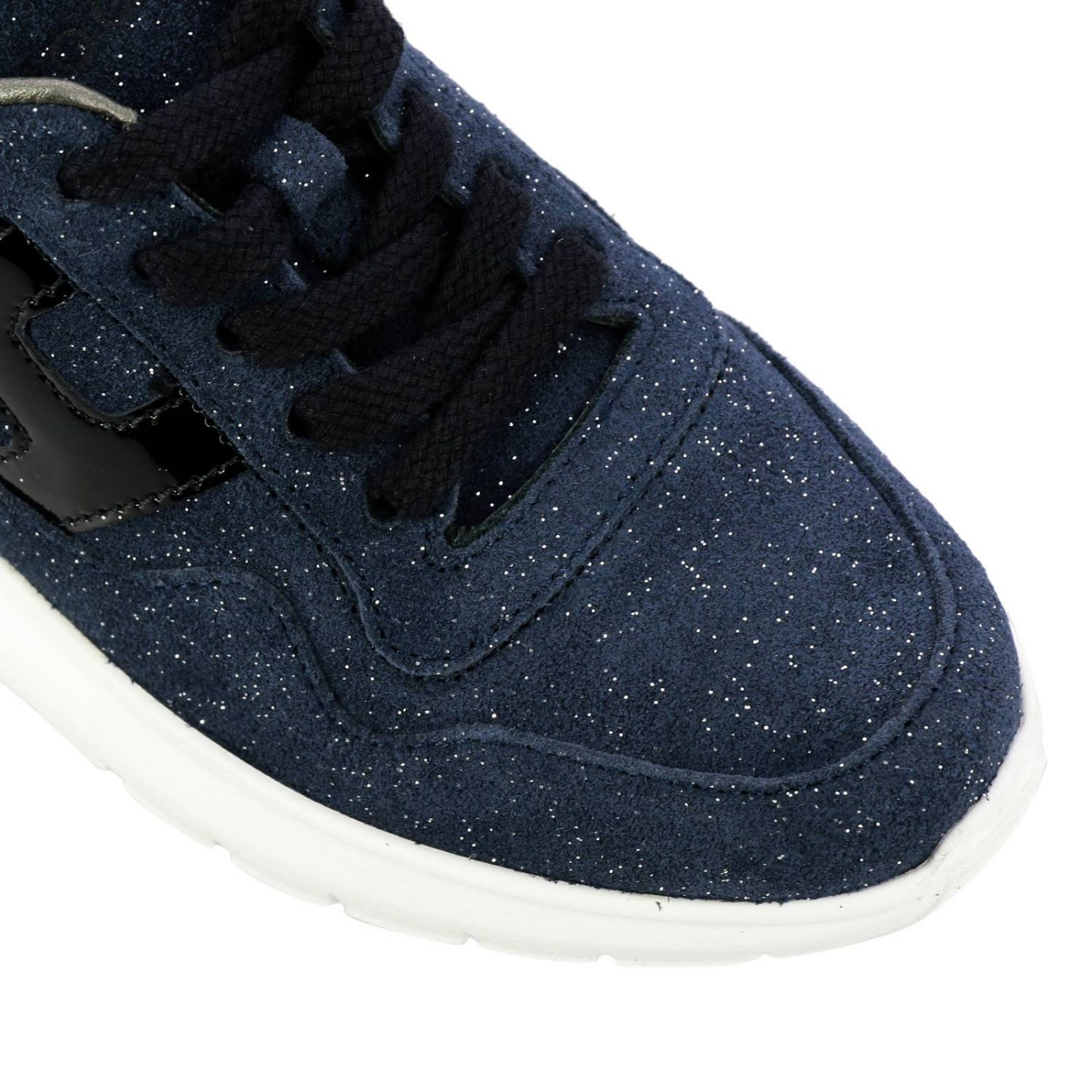 Cube Hogan glitter suede sneakers with patent leather H blue 4