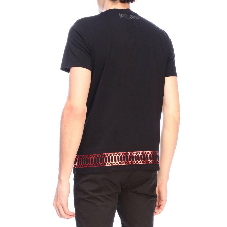 T-shirt Just Cavalli a maniche corte con maxi logo nero 3