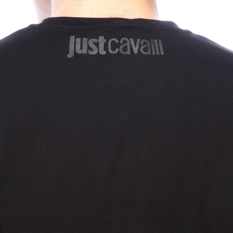 T-shirt Just Cavalli a maniche corte con maxi logo nero 4