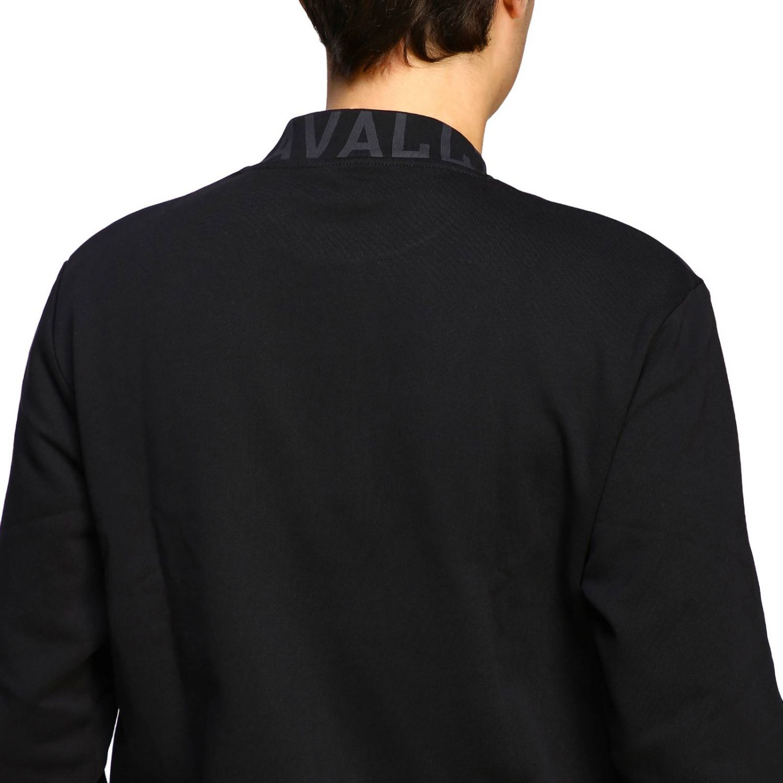 Felpa Just Cavalli a girocollo con stampa logo nero 5