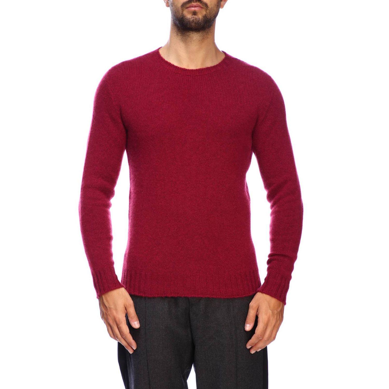 Etro Basic Shirt mit langen Ärmeln aus Kaschmir burgunderrot 1