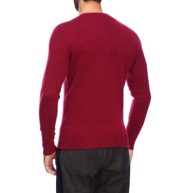 Etro Basic Shirt mit langen Ärmeln aus Kaschmir burgunderrot 3
