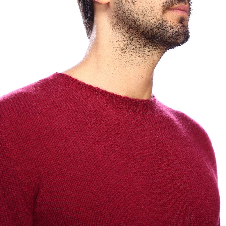 Etro Basic Shirt mit langen Ärmeln aus Kaschmir burgunderrot 4