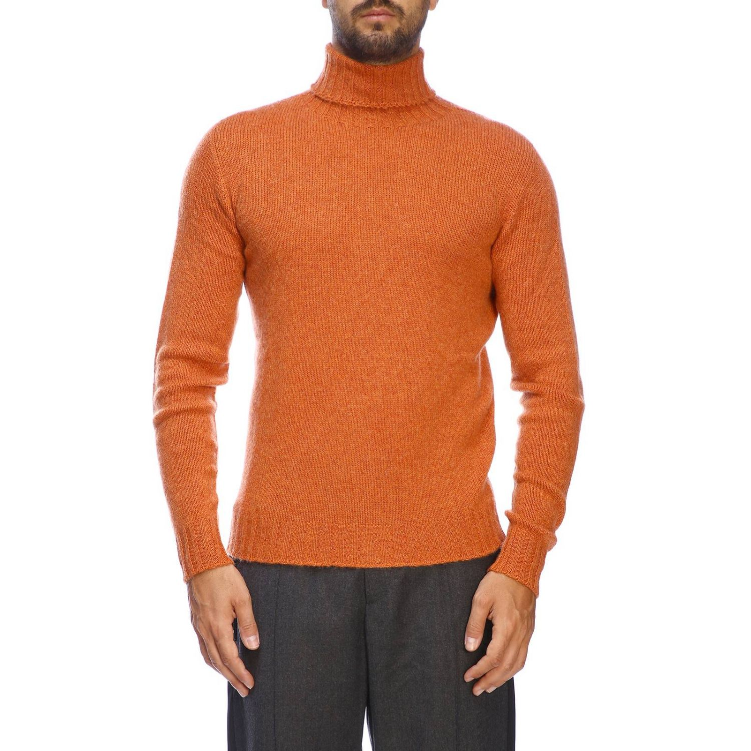 Etro basic turtleneck with long sleeves in cashmere orange 1