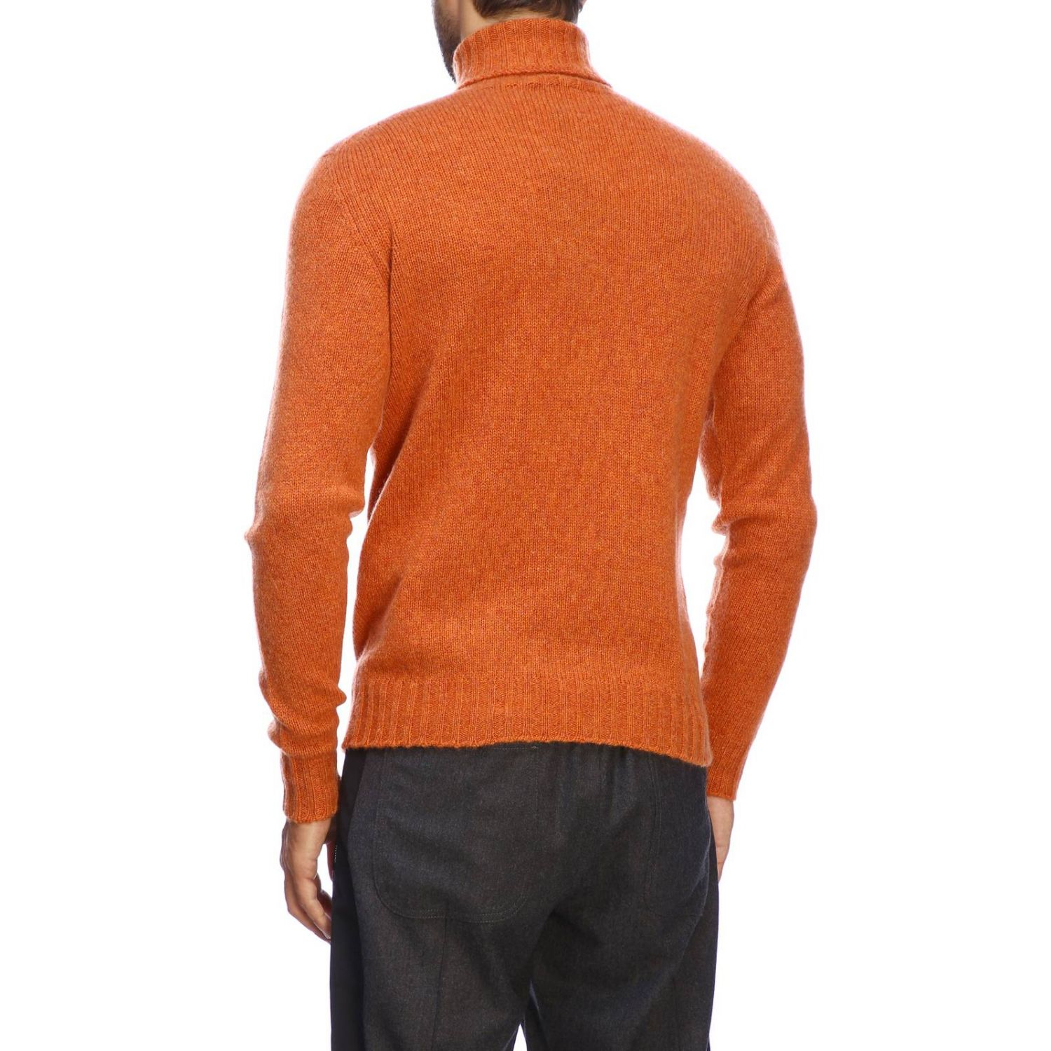 Etro basic turtleneck with long sleeves in cashmere orange 3