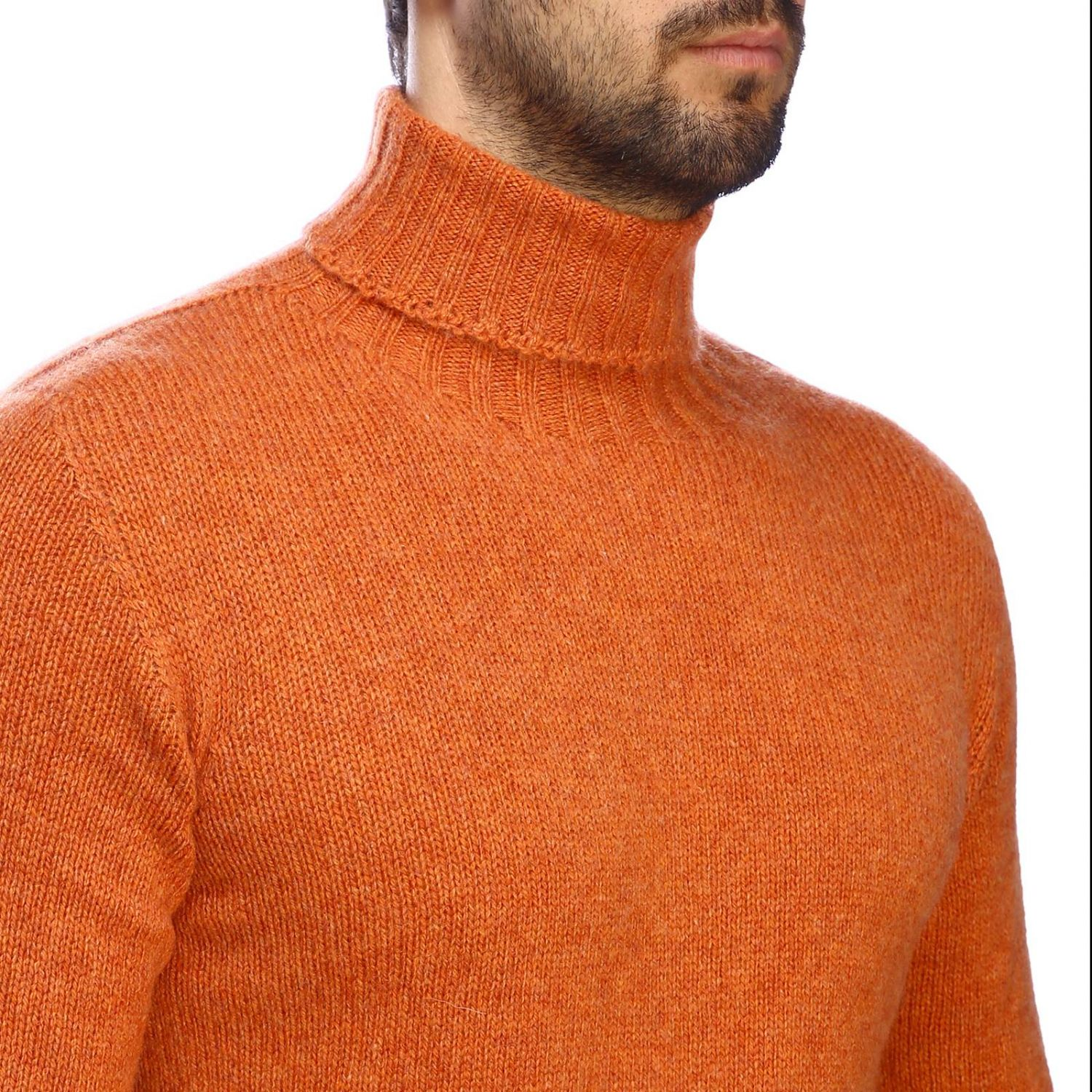 Etro basic turtleneck with long sleeves in cashmere orange 4