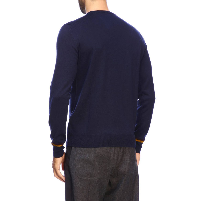 Pull Etro basic à manches longues en lainez bleu 3