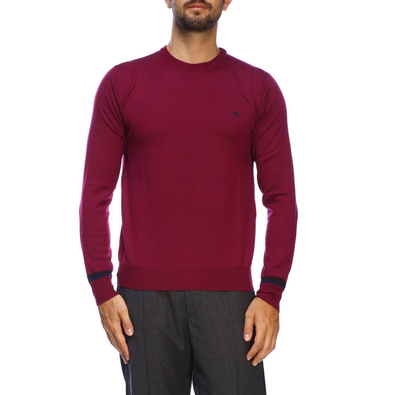 Suéter básico Etro de manga larga de lana fresa 1