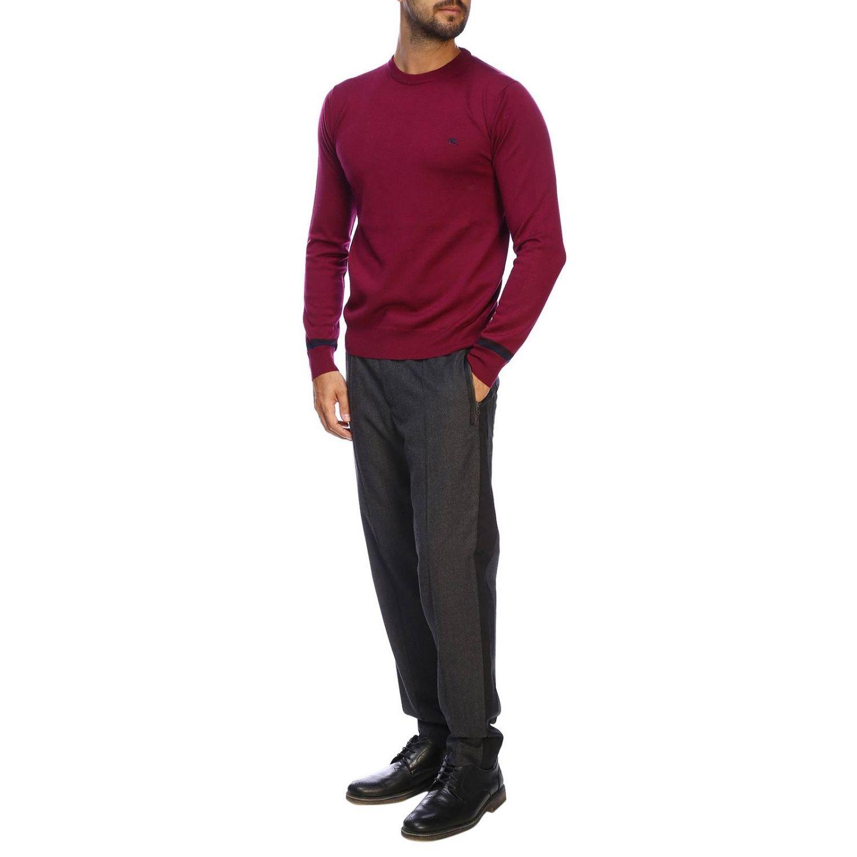 Suéter básico Etro de manga larga de lana fresa 2