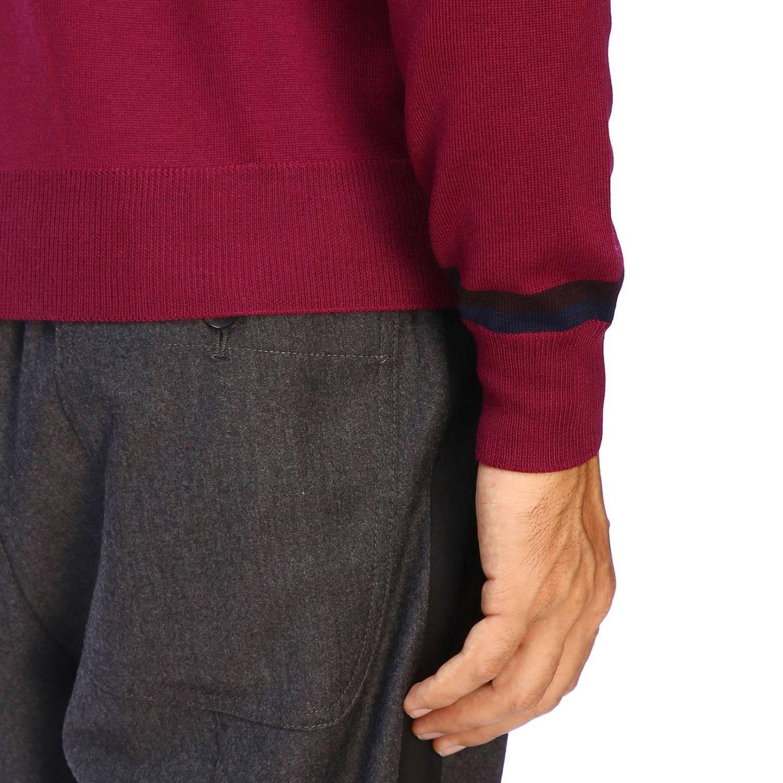 Suéter básico Etro de manga larga de lana fresa 4