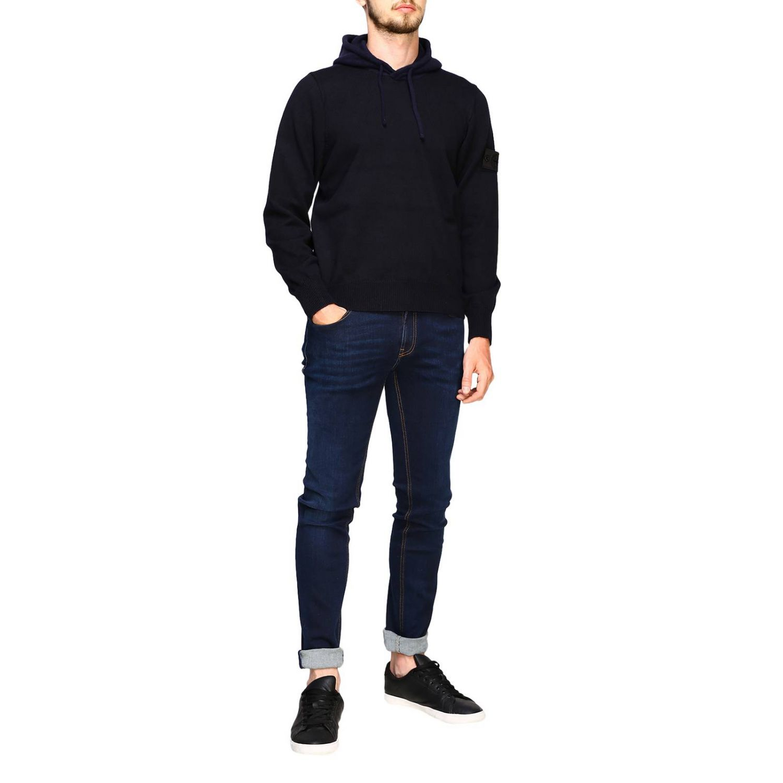 Sweater men Stone Island blue 2