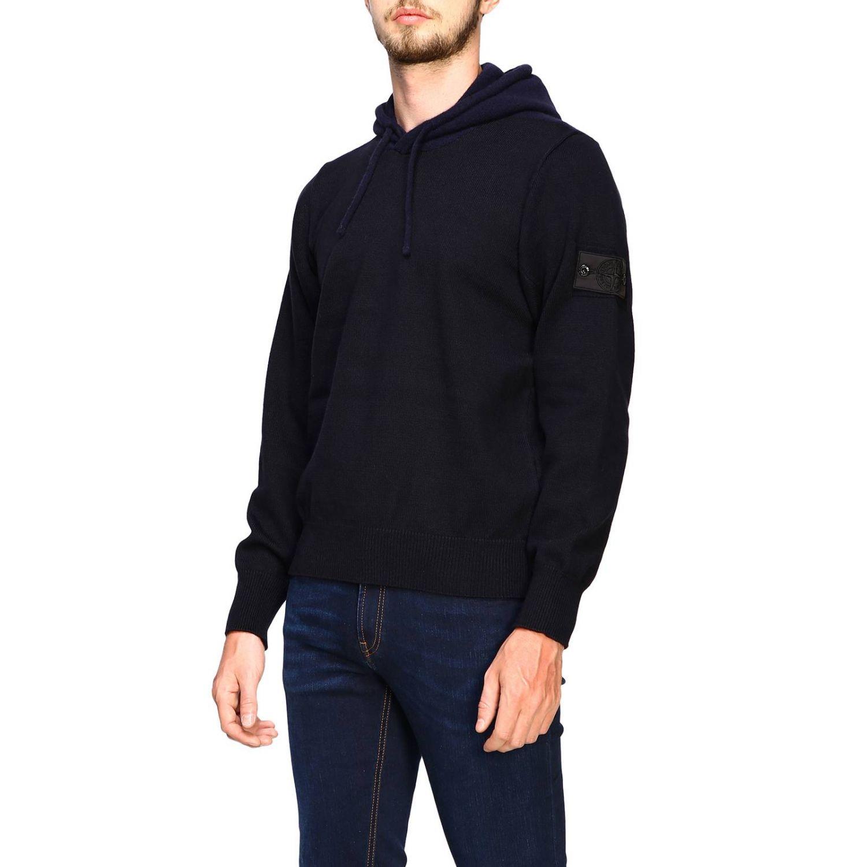 Sweater men Stone Island blue 4