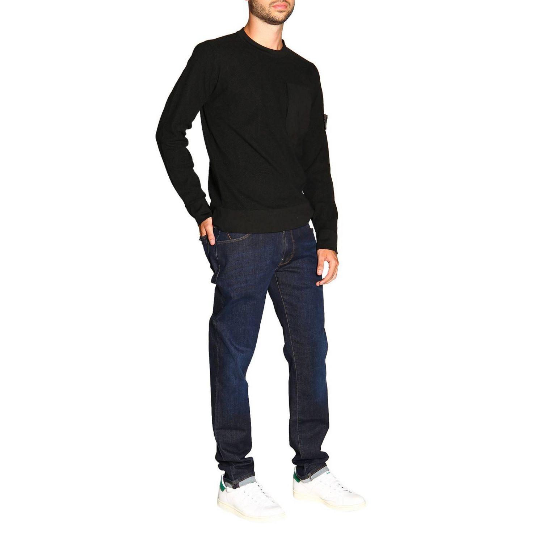 Sweater men Stone Island black 2