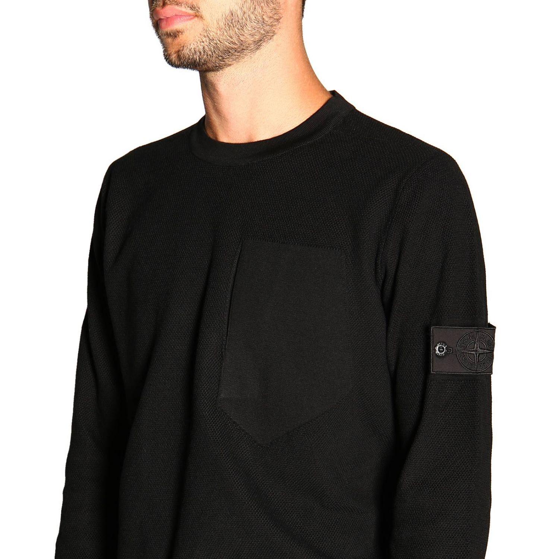 Sweater men Stone Island black 5