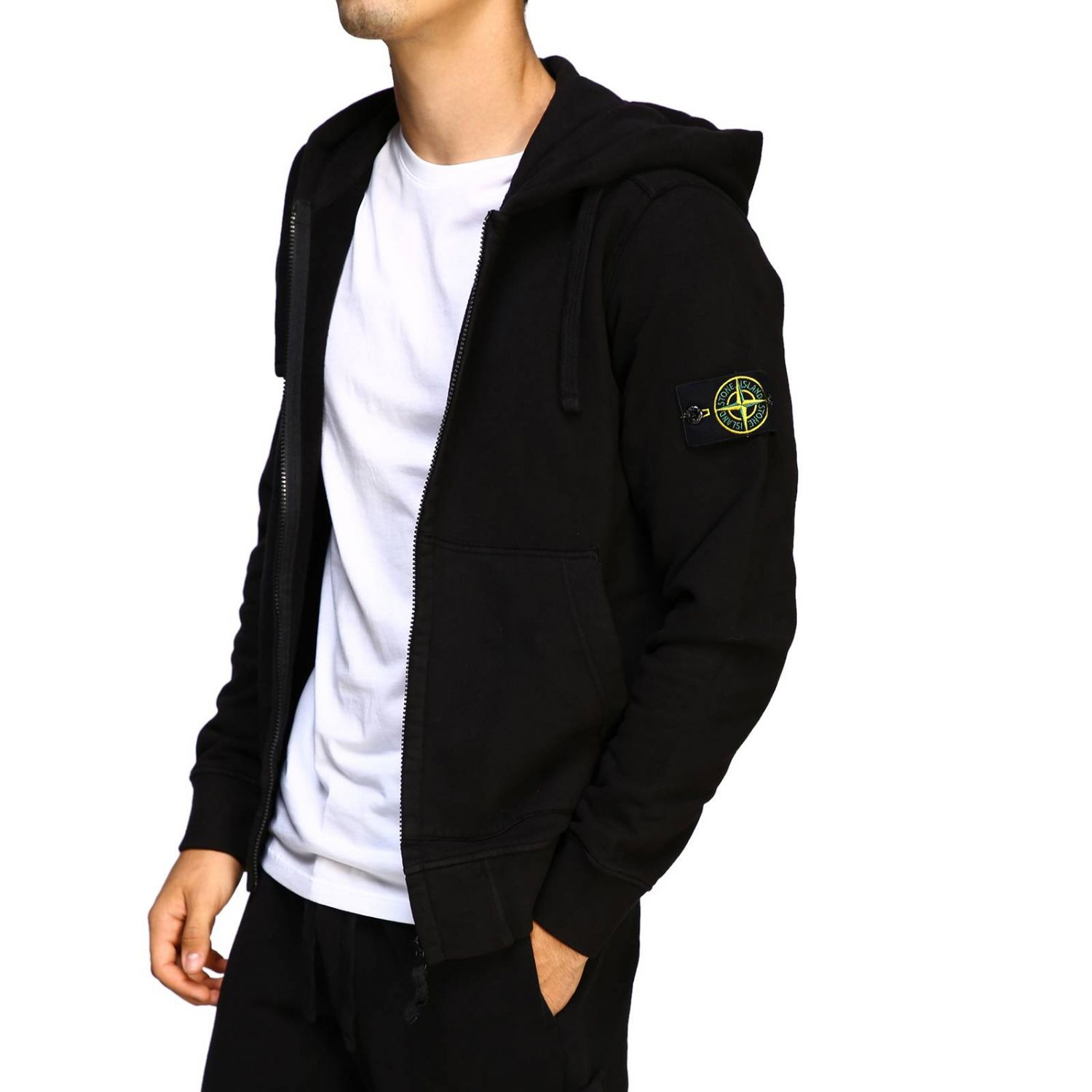 Sweater men Stone Island black 5
