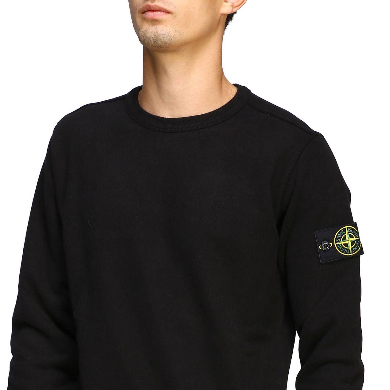 Sweatshirt mit Rundhalsausschnitt von Stone Island und Logo schwarz 5