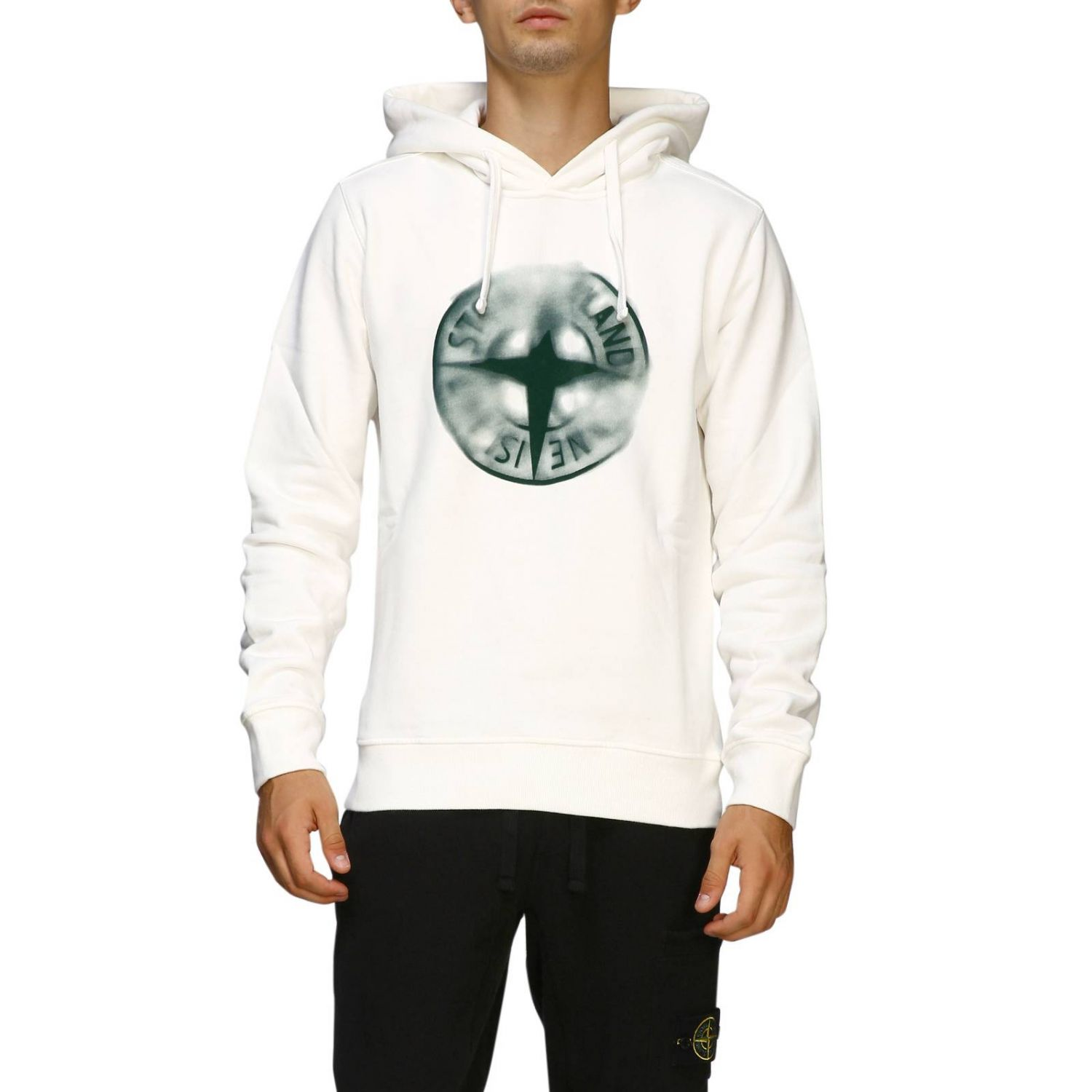 Pull homme Stone Island blanc 1