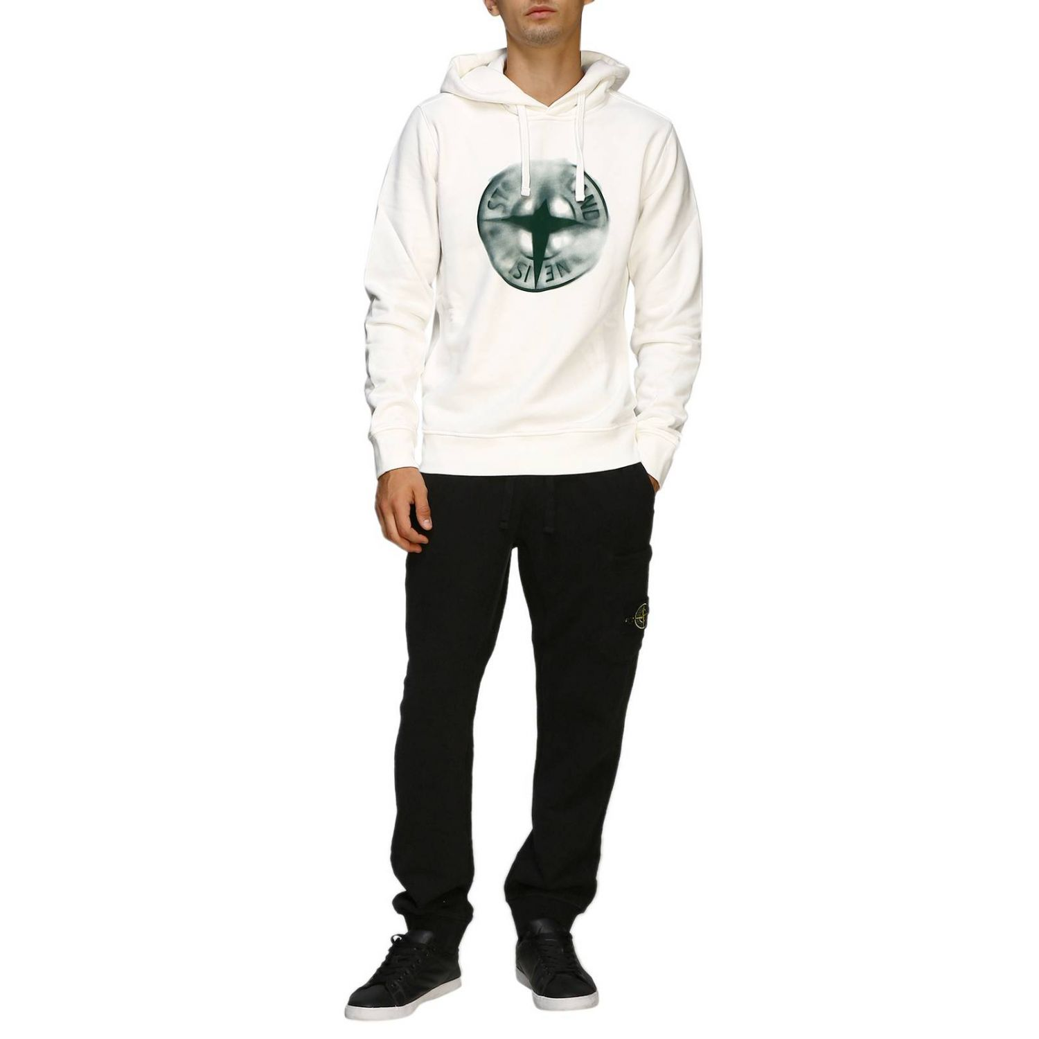Pull homme Stone Island blanc 2