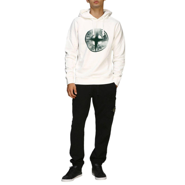 Sweater men Stone Island white 2