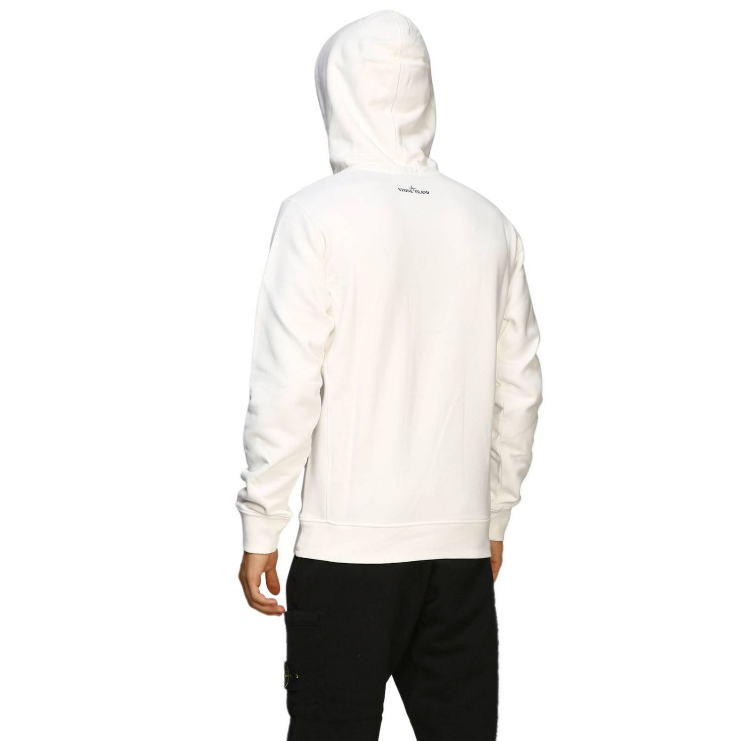 Pull homme Stone Island blanc 3