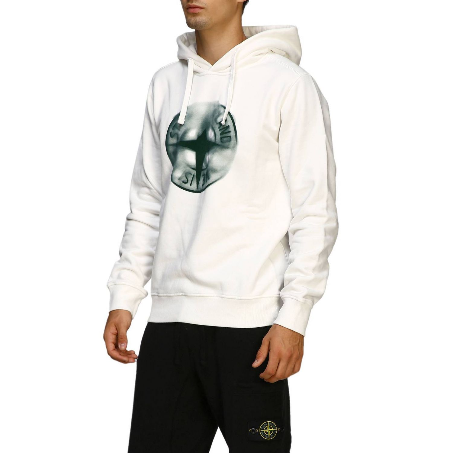 Pull homme Stone Island blanc 4