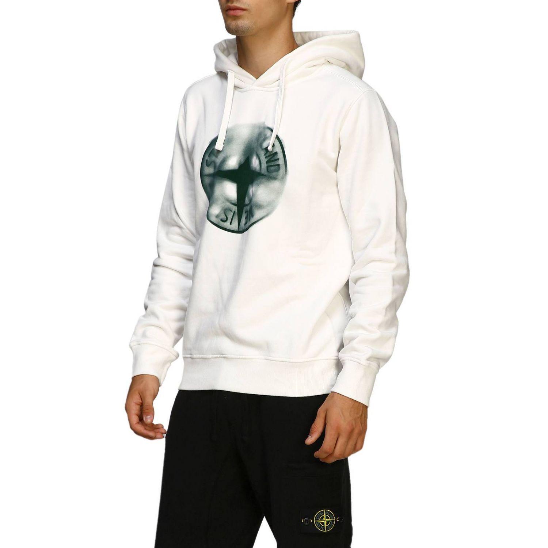 Sweater men Stone Island white 4