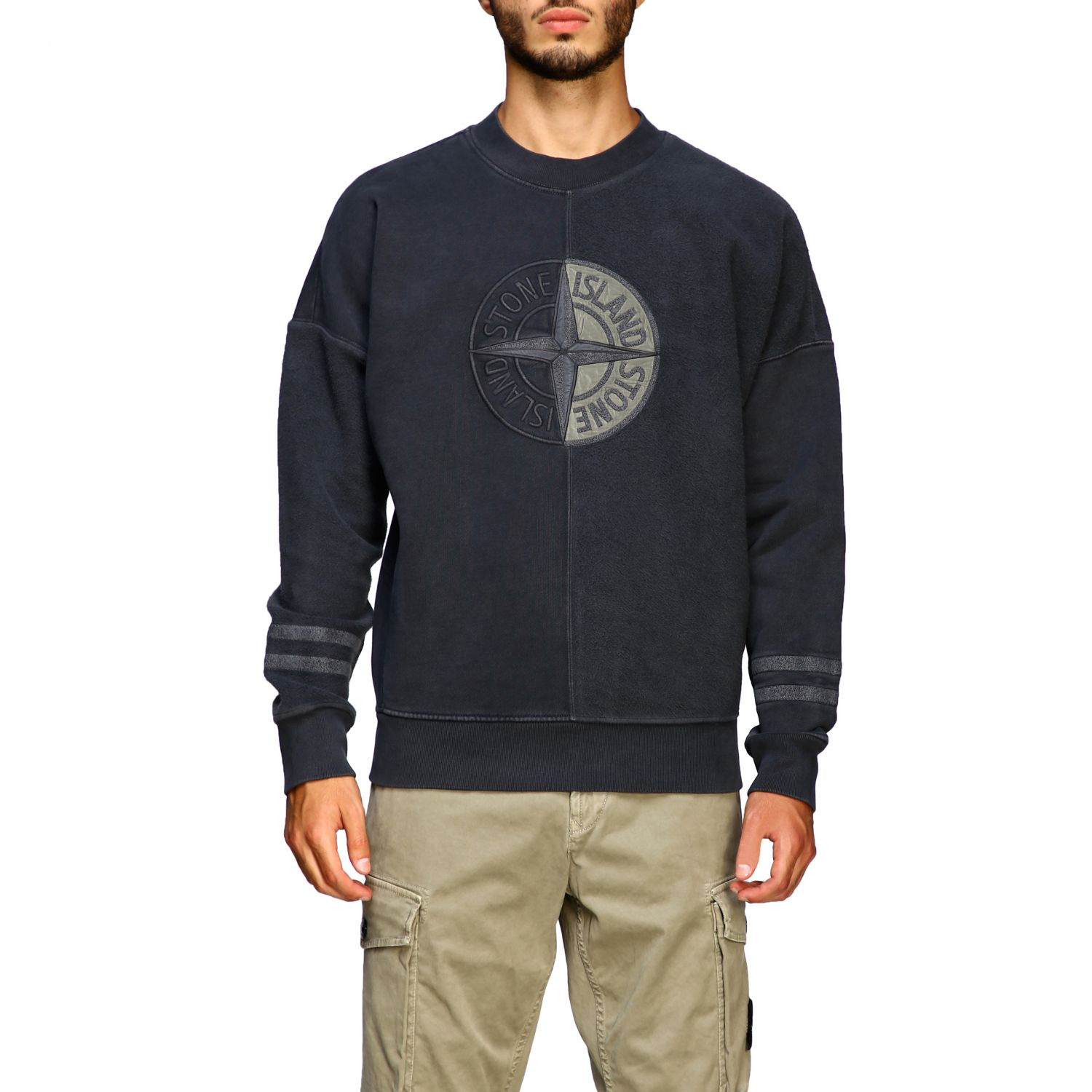 Pull homme Stone Island anthracite 1