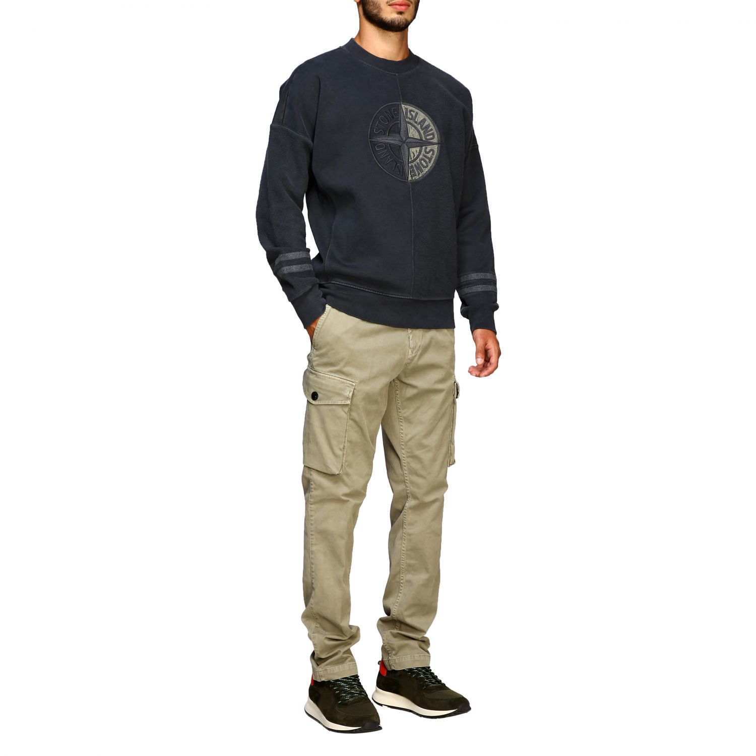 Pull homme Stone Island anthracite 2