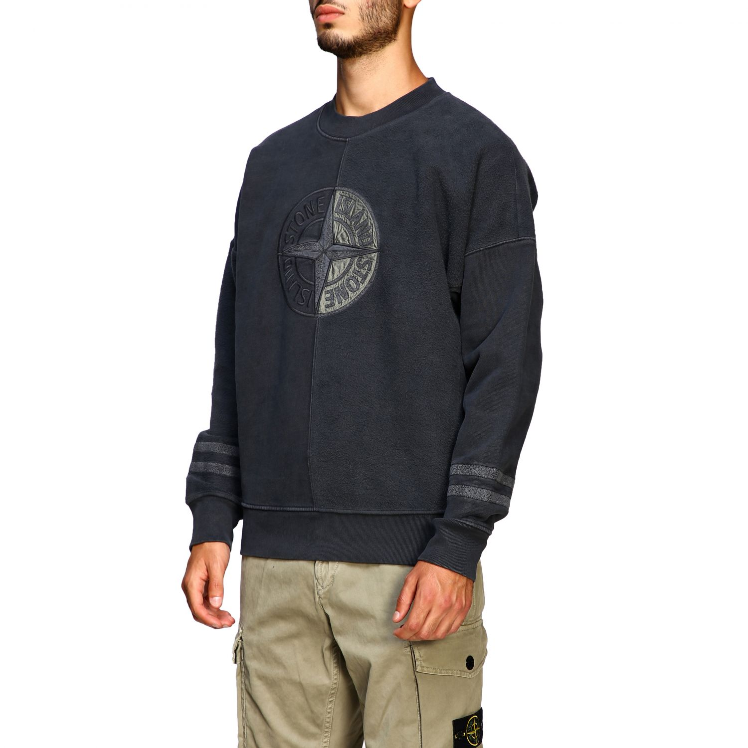 Pull homme Stone Island anthracite 4