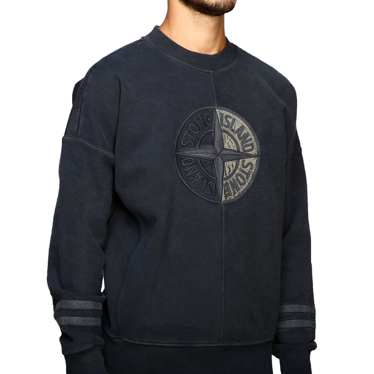Pull homme Stone Island anthracite 5