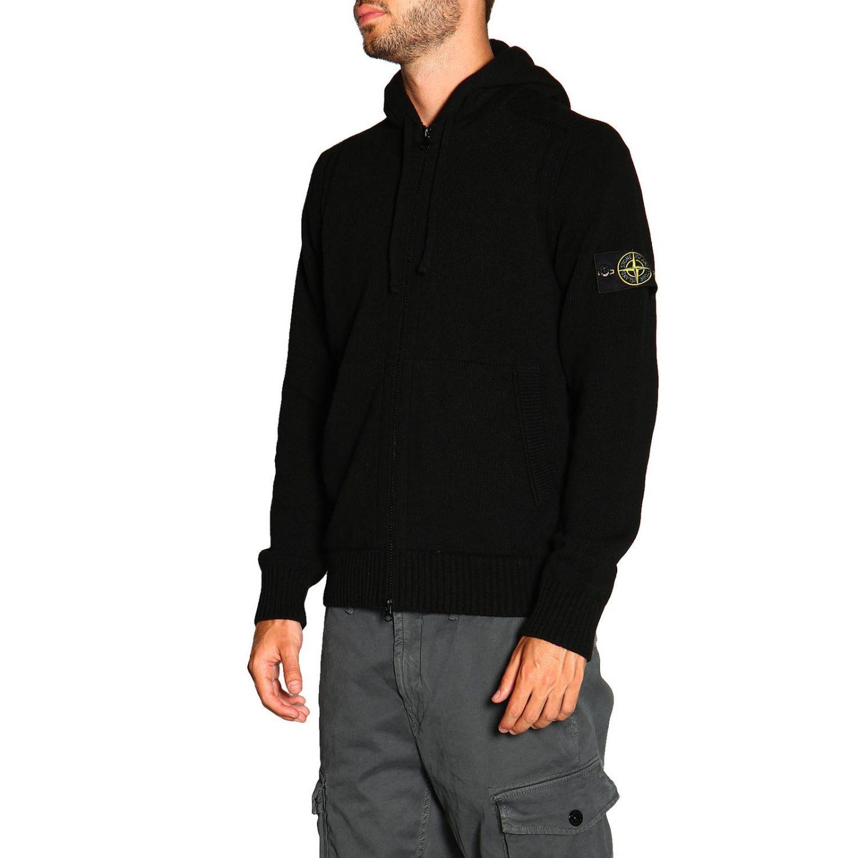 Sweater men Stone Island black 4
