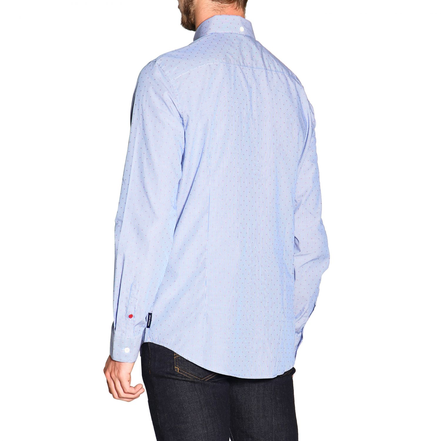 Shirt men Armani Exchange gnawed blue 3