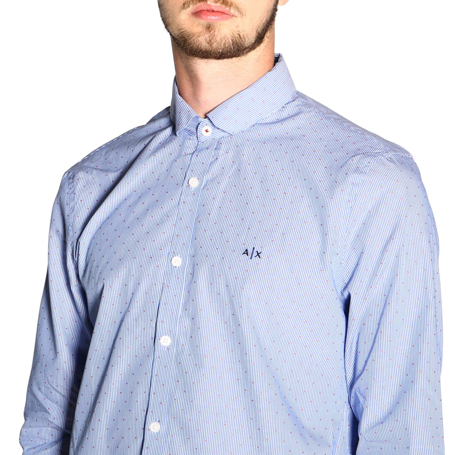 Shirt men Armani Exchange gnawed blue 5